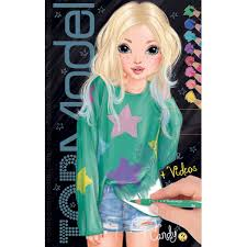 Album Coloriage TOP Model Modèle Visages Make Up Louise