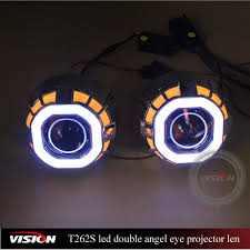 motorcycle led projector headlights hid square bi xenon