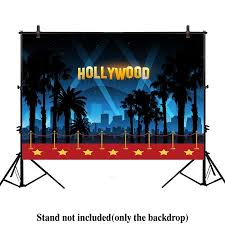 GreenDecor Polyster 7x5ft Photography Backdrop Hollywood Night Movie Premiere Birthday Adult Party Banner Red Carpet Background