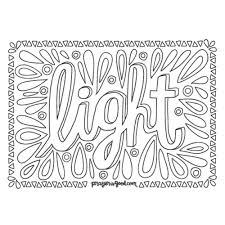 Light Downloadable Coloring Page