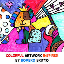 Romero Britto Colourful Pop Art Artwork For Kids Exploring Famous Artists