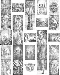 Enchanted Magical Forests Grayscale Coloring Edition Features The Same Set Of Artworks As Selinas More Traditional