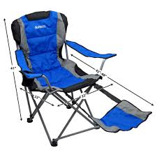 GigaTent Ergonomic Portable Footrest Camping Chair (Blue ...