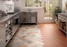 Beautiful Patterned Patchwork Vinyl Tile Flooring For Kitchens