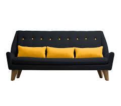 gipsy un canapé scandinave noir jaune monachatdeco