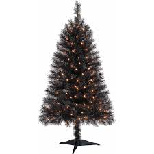 4 Ft Pre Lit Christmas Tree by Tis Your Season 4 Ft Pre Lit Black Indiana Spruce Artificial