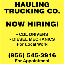 Now Hiring!, Hauling Trucking Co.