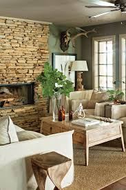 Brown And Aqua Living Room Pictures by 25 Cozy Ideas For Fireplace Mantels Southern Living