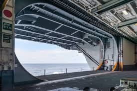 100 Aircraft Carrier Interior Aircraft Carrier Starboard Aft Elevator In The Raised Flush