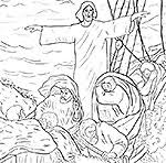 Bible Coloring Jesus Calms The Storm