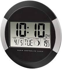 hama digitale wanduhr pp 245 funkuhr mit thermometer