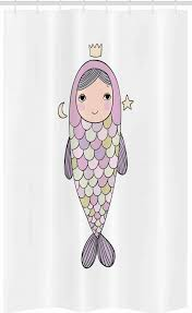 abakuhaus duschvorhang badezimmer deko set aus stoff mit haken breite 120 cm höhe 180 cm meerjungfrau mädchen in fisch kostüm kaufen otto