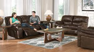 Living Room Table Sets Cheap by Cindy Crawford Home Alpen Ridge Brown 7 Pc Living Room With