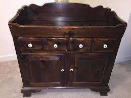 vintage ethan allen old tavern antiqued pine dry sink cabinet or