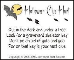 Short Halloween Riddles And Answers by Halloween Clue Hunt With Spook Appeal