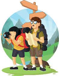Cartoon Of Backpacker Boy