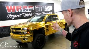 100 Wrapped Trucks THE GOLD MONSTER GOLD CHROME VINYL WRAPPED TRUCK The First Level 3 Chrome Workshop Student
