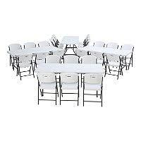 lifetime combo four 8 commercial grade non nesting folding tables