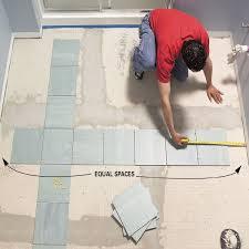 Install A Ceramic Tile Floor In The Bathroom Uncle VJR