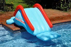 Swimline SuperSlide Inflatable Inground Pool Water Slide