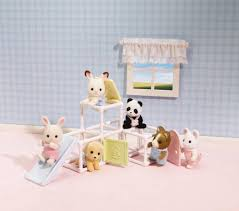 Calico Critters Master Bathroom Set by Calico Critters Baby Jungle Gym Beatty Burger Cafe Toys