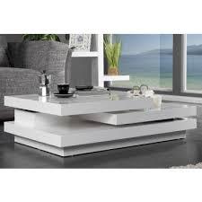 table basse laque blanc design table salon design bois