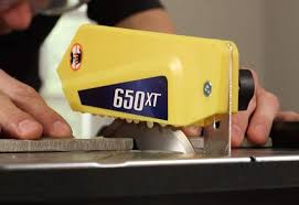 Beveled Tile Inside Corners by How To Cut Tile With A Wet Saw At The Home Depot