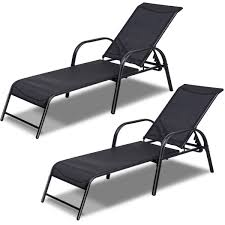 Costway Set Of 2 Patio Lounge Chairs Sling Chaise Lounges Recliner  Adjustable Back Minimalist Armless Patio Lounge Chair Shades Of Light Signature Design By Ashley Silent Brook Amazoncom Outdoor Pool Chaise Height Adjustable Chairs Microfiber Tropitone Kor Relaxed Sling Alinum Elle Decor Mirabelle French Gold Forever Horizon Wicker Mulder Longue Wikipedia Fniture Rare Closeouts Japanese Living Room Floor