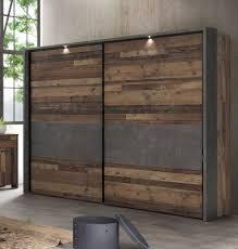 schwebetürenschrank kleiderschrank ausführung wählbar wood vintage beton dunkelgrau modern