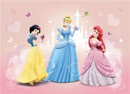 deco chambre princesse disney fresque murale princesses disney blanche neige ariel et