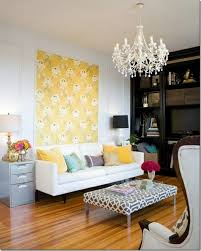 Tapestry With Floral Decoration As An Alternative Living Room Wall Design Ideas
