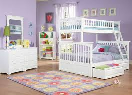 Columbia Twin over Full Bunk Bed White