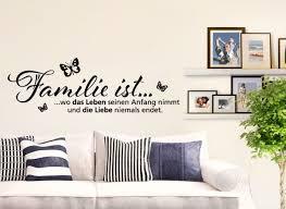 wandtattoo wohnzimmer spruch familie ist wo das leben