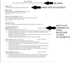 Simple Resume Objectives An Example Of A Good Best Ideas Examples