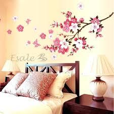 stickers muraux chambre fille ado sticker mural chambre fille sticker autocollant mural fleurs dacco