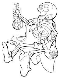 Skeleton Coloring Pages With Poison