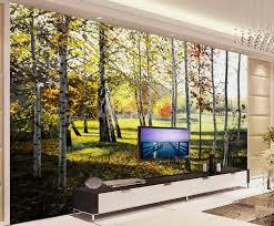 tapete 3d stereoscopic beautiful birke woods malerei wohnzimmer tv hintergrund schlafzimmer 3d fototapete