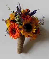 Sunflower Daisy Wedding Bouquets