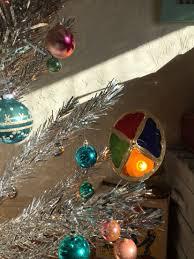 Rotating Color Wheel For Aluminum Christmas Tree by Vintage Evergleam Aluminum Christmas Tree With Spartus Rotating