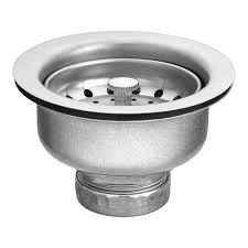 Menards Kitchen Sink Stopper by Moen 22037 3 1 2 Inch Drop In Basket Strainer With Drain Assembly