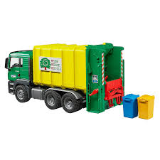 100 Toy Farm Trucks And Trailers Diecast Vehicles Bruder MAN TGS Refuse Truck 116 Scale
