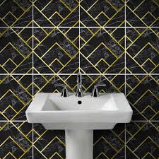 goldenen linien marmor wand aufkleber für fliesen badezimmer wohnzimmer dekoration vinyl tisch tapete diy arab boden aufkleber