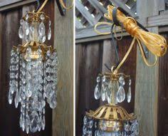 Plug In Swag Lamps Ebay by Vintage Ruby Forest Lily Glass Crystal Brass Hanging Swag Plugin