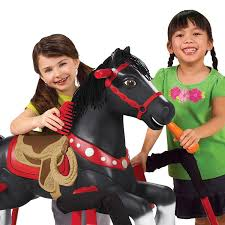 Radio El Patio Hn by Amazon Com Radio Flyer Duke Interactive Riding Horse Black 36 X