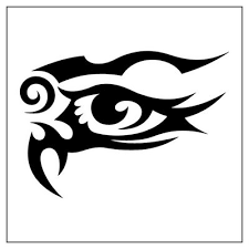 Tribal Libra Eye Tattoo