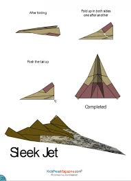Paper Airplane Instructions Sleek Jet Advanced