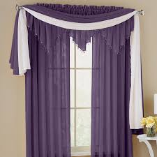 Brylane Home Curtain Panels by Crushed Voile Rod Pocket Panel Scarf U0026 Valance Curtains