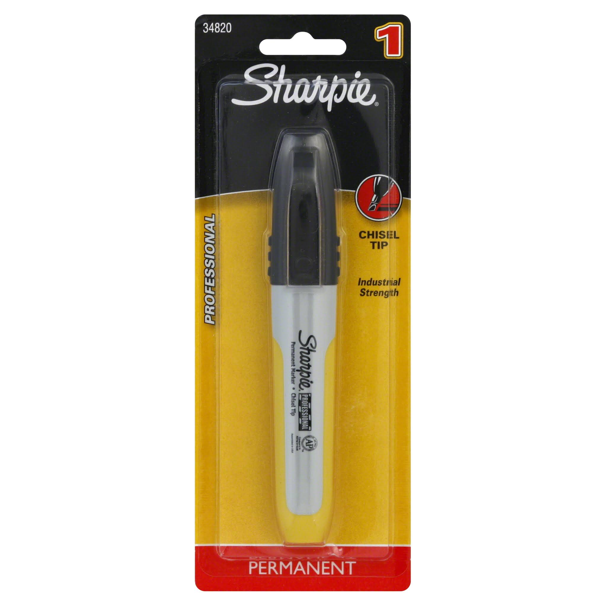 Sharpie Professional Permanent Marker, Chisel Tip