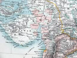 BRITISH EAST INDIES INDIA BURMA NEPAL TIBET Fullarton Antique Map C1865