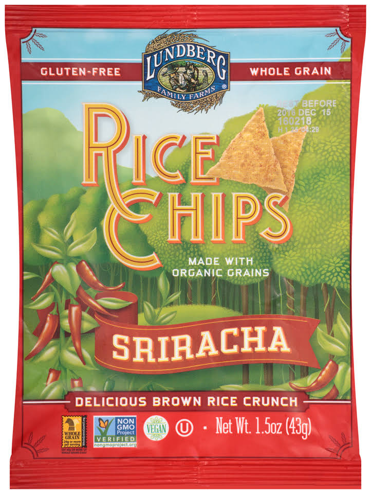 Lundberg Rice Chips - Sriracha, 1.5oz
